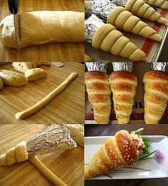 Bread cones, bake as directed