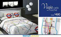 Checa los nuevos diseños de colchas y edredones que tenemos en nuestro sitio web y encuentra flores, paisajes, texturas y mucho más.  Walmart.com.mx, Hacemos Clic!