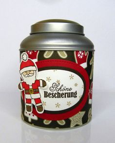 Geschenkverpackungen - Geschenkdose Weihnachten Nikolaus - ein Designerstück von Stempelitis bei DaWanda