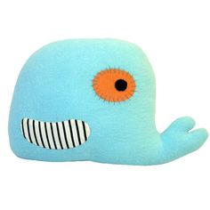 Big turquoise Whale NAMSAI Soft cuddle toy and cushion