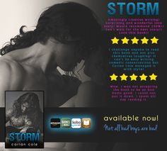 what readers are saying about Storm by Carian Cole!  (book 1)