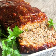 Brown Sugar Meatloaf with Ketchup Glaze - beef - Meatloaf Best Meatloaf, Meatloaf Recipes, Meat Recipes, Cooking Recipes, Dinner Recipes, Hamburger Recipes, Yummy Recipes, Healthy Recipes, Dulce De Leche