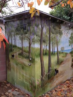 Murals On Sheds Outdoor Garden   Bing Images