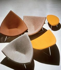 George Nelson Coconut chairs and stool, 1955.