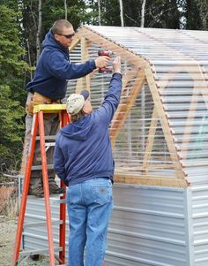very easy diy greenhouse from ana white. Greenhouse Panels, Diy Greenhouse Plans, Backyard Greenhouse, Small Greenhouse, Portable Greenhouse, Greenhouse Wedding, Homemade Greenhouse, Diy Projects Plans, Easy Diy Projects