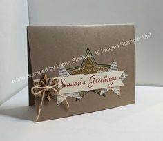 *Stampin' Fun with Diana: Sketch Frenzy Friday Sketch Challenge: Many Merry Stars Inspired Scrapbook Christmas Cards, Create Christmas Cards, Stampin Up Christmas, Christmas In July, Holiday Cards, Christmas Decor, Christmas Ideas, Stampin Up Many Merry Stars, Happy New Year Cards
