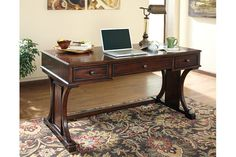 "Devrik 60"" Home Office Desk by Ashley HomeStore, Brown"