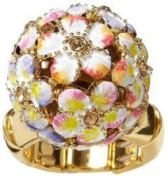 betsey johnson rings | Betsey Johnson Orbital Flower Ring in Gold (white) - Lyst