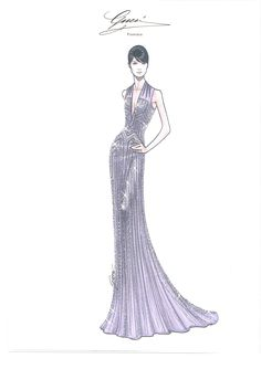 Lights, Cannes, Action: Red Carpet Style  Gemma Arterton at the 65th Cannes Film Festival - Sketch by Gucci