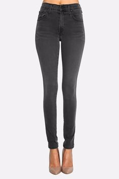 The perfect addition to any woman's closet is a high-rise skinny in a relaxing, flexible, comfortable and irresistible shade of grey. The High Class Skinny utilizes ultra-soft and gummy fabrication that will have you feeling like you're wearing your favorite yoga pants. We love wearing our grey denim with a fresh white shirt and neutral booties all year long!   High Class Skinny Jeans  by James Jeans. Clothing - Bottoms - Jeans & Denim Wicker Park, Chicago, Illinois