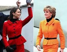 Fashion twins Princess Diana and Princess Kate! Princess Diana would have loved her daughter-in-law~ Diana Fashion, Royal Fashion, Duke And Duchess, Duchess Of Cambridge, Queen And Prince Phillip, Kate And Meghan, Princess Diana Pictures, Sarah Ferguson, Prince William And Catherine
