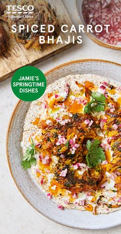 This version of the curry house classic is taken up a notch with grated carrot and fresh chilli. See more Jamie Oliver recipes Tesco Real Food. Healthy Eating Recipes, Healthy Cooking, Lunch Recipes, Vegetarian Recipes, Healthy Dinners, Vegan Dinners, Yummy Recipes, Healthy Food, Jamie Oliver Healthy Recipes
