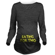 Eating For Two Drink Long Sleeve Maternity T-Shirt for