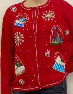 Snowglobes in Paradise Ugly Christmas Sweater / by UglyXmasParty, $25.00