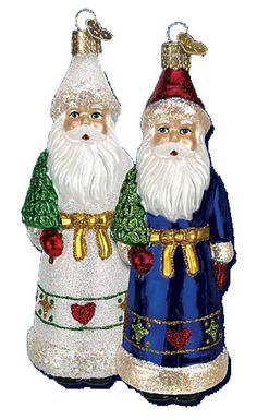 Pennsylvania Dutch Santa Glass Ornament
