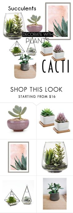 """Untitled #37"" by lily-krieger ❤ liked on Polyvore featuring interior, interiors, interior design, home, home decor, interior decorating, Art Addiction, Threshold, plants and planters"