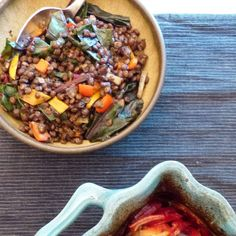 Comfort Food.  This tasty warming bowl of lentils with beet tops & sweet peppers was a nourishing side to a rather spectacular dish that is going #ontheblog today. You can see it in the corner here waiting for it's turn in the spotlight! sneak preview  I'll post the details once it's published  #lentils #vegan #comfortfood #recipe #whatveganseat #veganeats #veganfood #bowlfood #eeeeeats #huffposttaste #feedfeed #cleaneats #cleaneating #eatfortheplanet #eattherainbow #growcookeat…