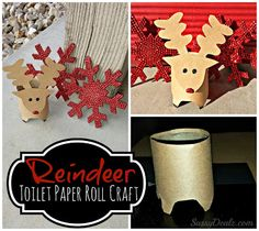 Mini Reindeer Toilet Paper Roll Christmas Craft For Kids | SassyDealz.com