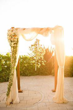 A Garden Inspired Wedding at The Westin Moana Surfrider, HI - My Hotel Wedding Hotel Wedding, Chic Wedding, Floral Wedding, Wedding Set, Wedding Bands, Wedding Flowers, Wedding Ideas, Ceremony Arch, Wedding Ceremony