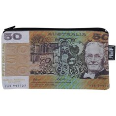 Old Fifty Dollar Note Pencil Case or Purse from Sarah J Home Decor. Australian Made. $14.95