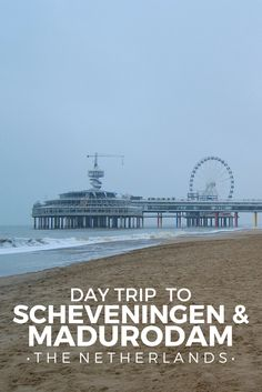 We picked a real weird day to go to the beach. A freezing cold trip to Scheveningen and Madurodam in Den Haag (the Hague), Netherlands.