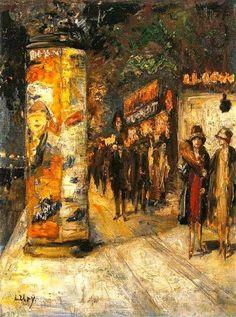 Berliner Strassenszene, 1920 // by Ury Lesser