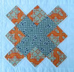 """Or maybe I want to """"granny square"""" a FMF quilt for me and mix it with my Seed Catalogue Fabric? Hmmmmm..."""