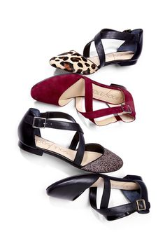 Comfy flats with crisscross straps.