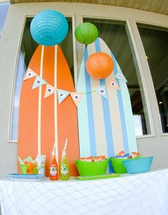 surfboards--super cute party idea!