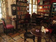 Tmol Shilshom, a used bookstore and cafe in Jerusalem, Israel.