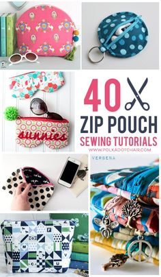 Learn how to sew a zipper pouch with these free sewing tutorials. Simple, fun sewing projects for beginners Diy Zip Pouches, Diy Pouch No Zipper, Zipper Bags, Diy Pouch Bag, Sewing Blogs, Sewing Hacks, Sewing Tutorials, Sewing Tips, Bag Tutorials