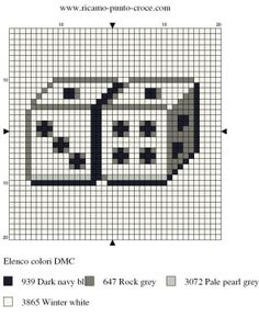 loisirs - leisure - dé - point de croix - cross stitch - Blog : http://broderiemimie44.canalblog.com/