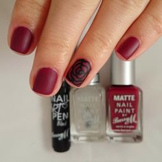 burgundy nail art - Google Search