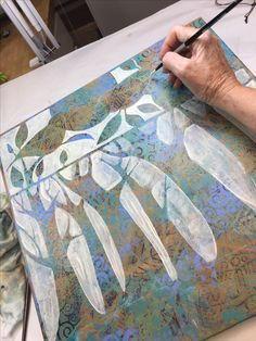 Painting in progress, Sue Davis.