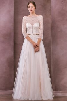Vintage A-line Scalloped-Edge Floor-length Tulle Fabric UK Wedding Dresses 2015 With Lace Style uk50812 $459.99 UK Wedding Dresses 2015
