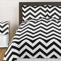 product image for Sweet Jojo Designs Chevron Bedding Collection in Black and White Teen Boy Bedding, Nursery Bedding Sets Girl, Toddler Girl Bedding Sets, Dorm Bedding, Cheap Bedding Sets, Best Bedding Sets, Bedding Sets Online, Chevron Bedding, Velvet Duvet