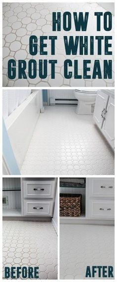 How to Get White Grout Clean www.BrightGreenDoor.com