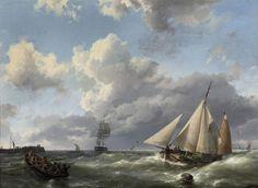 Hermanus Koekkoek - Richting haven