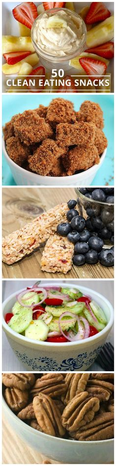 Enjoy this list of 50 Clean Eating Snacks to boost your weight loss journey!Enjoy this list of 50 Clean Eating Snacks to boost your weight loss journey! Clean Eating Recipes, Clean Eating Snacks, Healthy Eating, Good Food, Yummy Food, Tasty, Snack Recipes, Cooking Recipes, Healthy Recipes