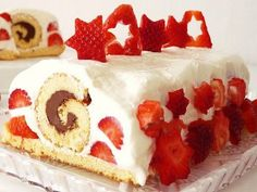 """Schovaná roláda - """"hidden roll"""" cake."""
