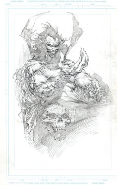 Marc Silvestri- Mephisto, in Peter Steigerwald's Pages/Pieces by other people Comic Art Gallery Room Comic Book Drawing, Comic Books Art, Comic Book Artists, Art And Illustration, Illustrations, Fantasy Kunst, Fantasy Art, Cover Art, Comic Artist