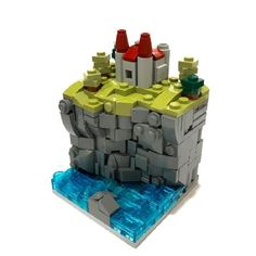 Seaside Castle (and more!): A LEGO® creation by Carter Witzenburg : MOCpages.com