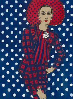 art <3 lady in red ~ Fred Greenhill