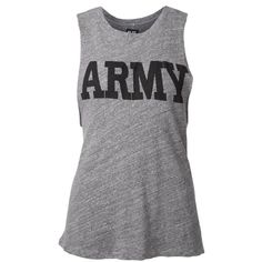 Nlst 'Army' print tank top ($135) ❤ liked on Polyvore featuring tops, shirts, tank tops, grey, army shirt, pattern tank top, cotton shirts, gray shirt ve shirts & tops