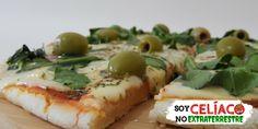 Pizza sin TACC: receta de pizza sin gluten en 5 pasos Pizza Sin Gluten, I Love Food, Gluten Free Recipes, Baked Potato, Free Food, Baking, Ethnic Recipes, Mj, Products