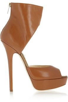 Jimmy Choo Beatrix platform leather sandals | THE OUTNET