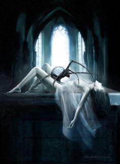 The Incubus Horror (Demon), Joe Roberts Dark Fantasy Art, Dark Art, Fantasy Artwork, Gothic Kunst, Gothic Artwork, Spider Art, Demon Art, Horror Art, Macabre
