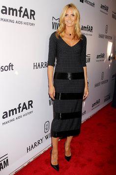 Heidi Klum en robe Marc Jacobs