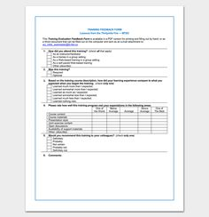 Hr Department Feedback Form  Free Fillable And Printable Forms