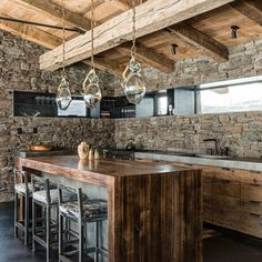 Can't get more #rustic than this #kitchen #stone